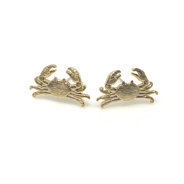 Crab Matt Post Earrings, Earrings - www.thestoneflower.com