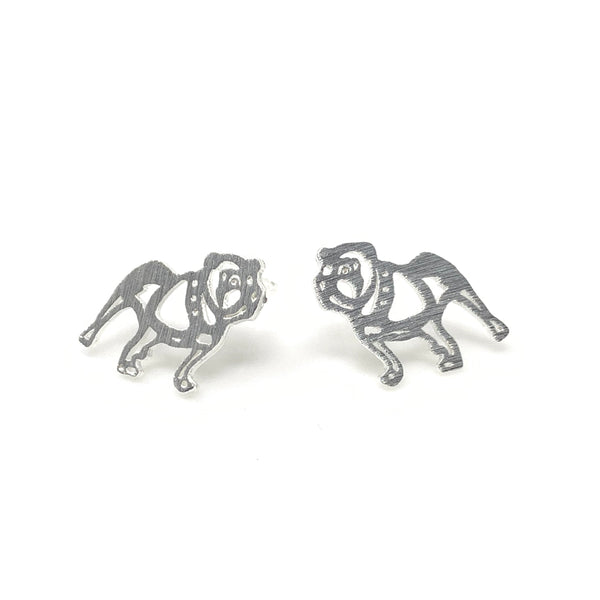 Bulldog Matt Post Earrings, Earrings - www.thestoneflower.com