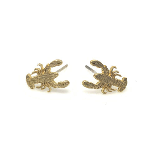 Lobster Matt Post Earrings, Earrings - www.thestoneflower.com