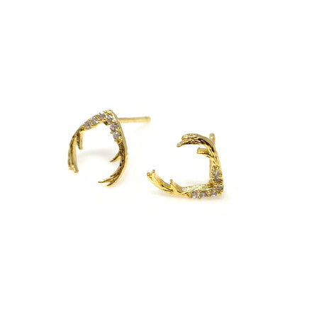 Matt Gold Whale Post Earrings