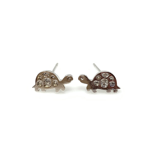 Silver Turtle Post Earrings, Earrings - www.thestoneflower.com