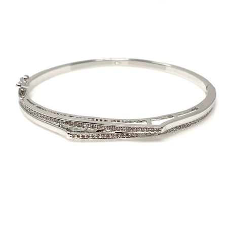 Double Swarovski Crystal Bangle Bracelet