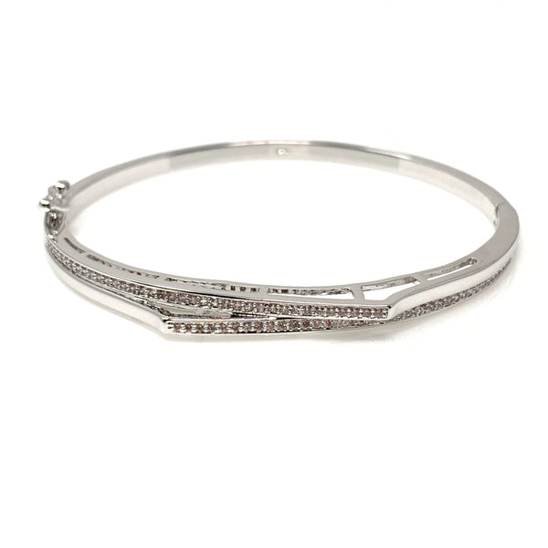 Double Crystal Bangle Bracelet, Bracelets - www.thestoneflower.com