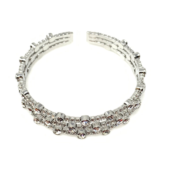 Triple Swarovski Crystal Bangle Bracelet, Bracelets - www.thestoneflower.com