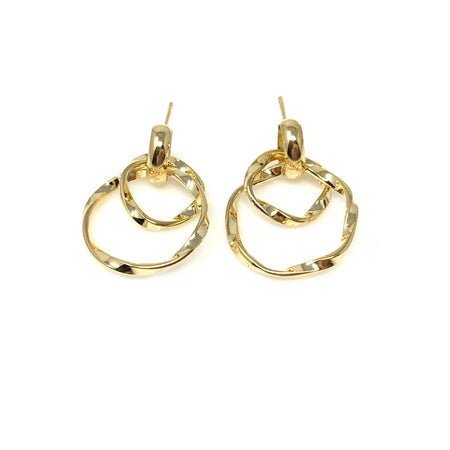 Square Linear Chain Drop Earrings