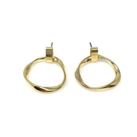 Double Oval Cubic Post Earrings