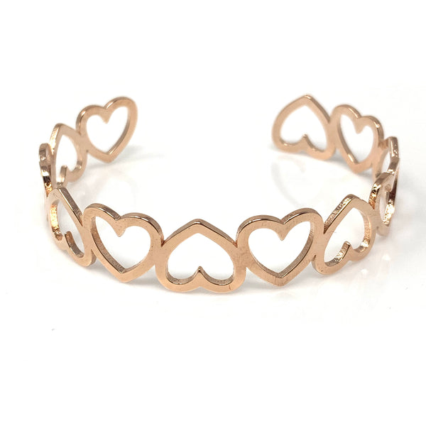 Lovely Heart Bangle, Bracelets - www.thestoneflower.com