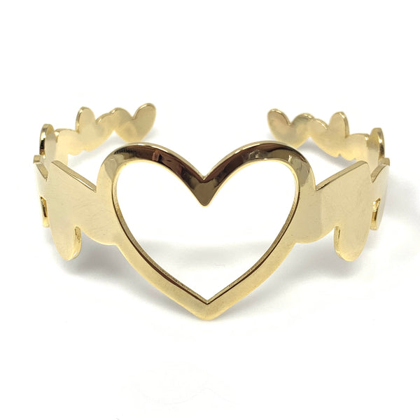 Big Heart Bangle, Bracelets - www.thestoneflower.com