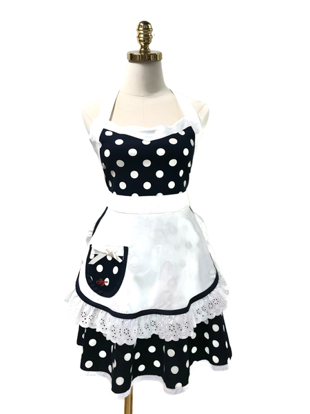 Black Spade Double-Layered Apron