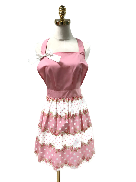Pink Bow Hostess Apron