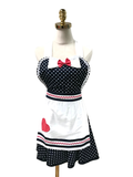 Pink Bow Hostess Apron, Apron - www.thestoneflower.com