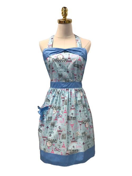 French Cooking Hostess Apron, Apron - www.thestoneflower.com