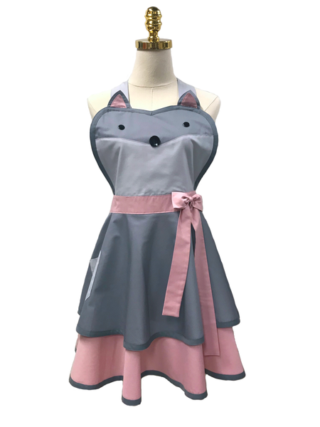 Mint Green Cute Rabbit Apron