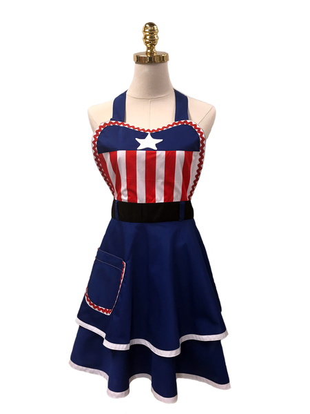 Power Girl Double-Layered Apron, Apron - www.thestoneflower.com