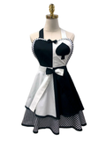 Black Spade Double-Layered Apron, Apron - www.thestoneflower.com
