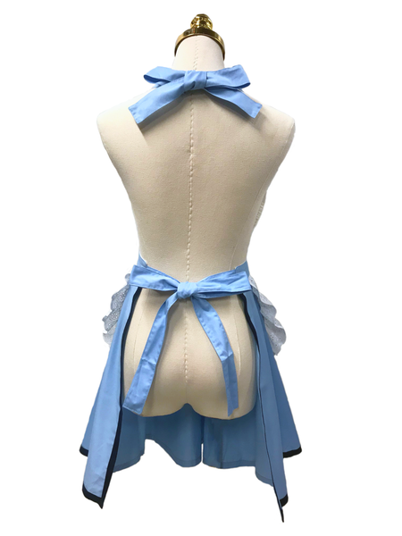 Lovely Blue Double-Layered Apron, Apron - www.thestoneflower.com