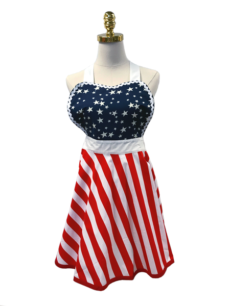 Star Spangled Hostess Apron, Apron - www.thestoneflower.com