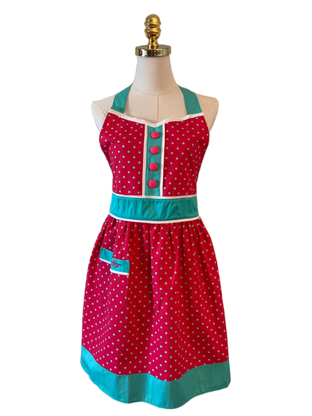 Lovely Blue Double-Layered Apron