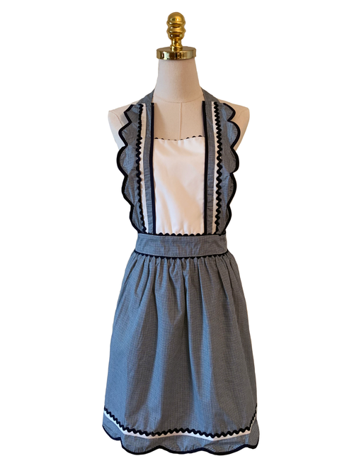Cute Turquoise with side Ruffles, Apron - www.thestoneflower.com