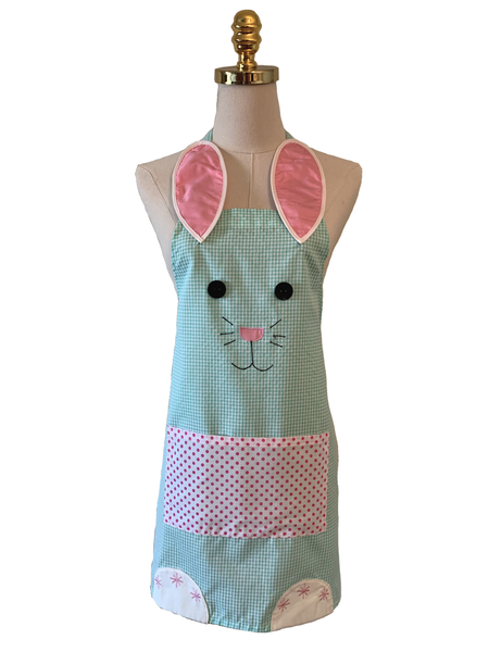 Mint Green Cute Rabbit Apron, Apron - www.thestoneflower.com
