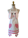 Pink Little Cute Bunny Apron, Apron - www.thestoneflower.com