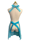 Cute side Bottoms on Blue Sassy Apron, Apron - www.thestoneflower.com