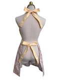 Lovely Double bows on Flowered Apron, Apron - www.thestoneflower.com