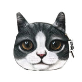 Cute Gray Cat Coin Purse