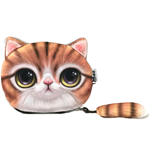 Gold Tabby Cat Pouch, Coin Purses - www.thestoneflower.com