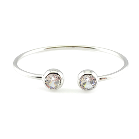 Double Crystal Bangle Bracelet