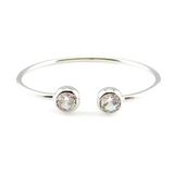 Clear CZ Bangle Bracelet, Bracelets - www.thestoneflower.com
