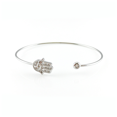 Crystal Squares Bangle Bracelet