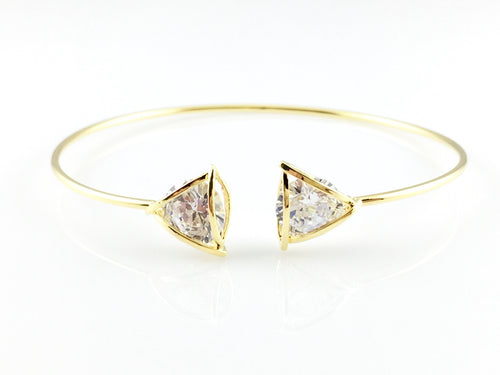 Shiny Crystal Bangle Bracelet, Bracelets - www.thestoneflower.com