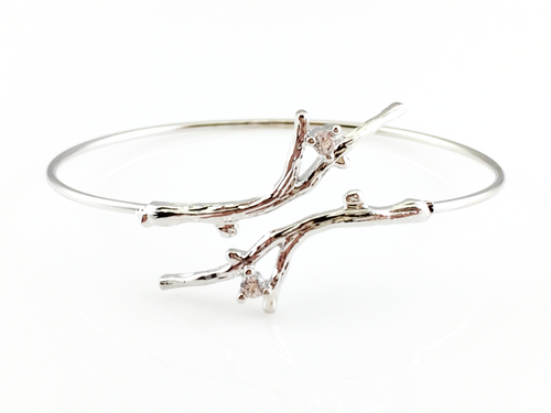 Tree Branch Bangle Bracelet, Bracelets - www.thestoneflower.com
