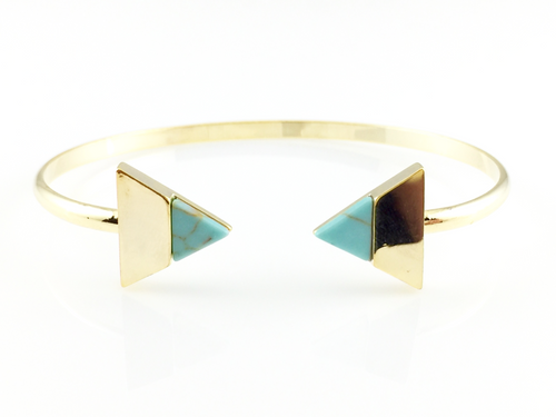 Tribal Turquoise Bangle Bracelet, Bracelets - www.thestoneflower.com