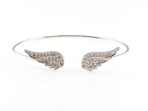 Angel Wings Bangle Bracelet, Bracelets - www.thestoneflower.com