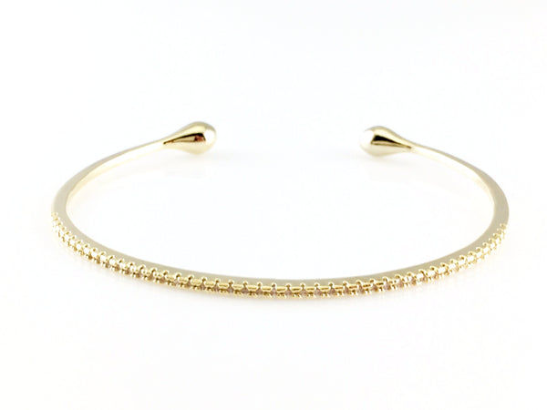 Crystal Pave Teardrop Bangle Bracelet, Bracelets - www.thestoneflower.com