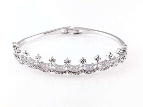 Princess Crown Bangle Bracelet, Bracelets - www.thestoneflower.com
