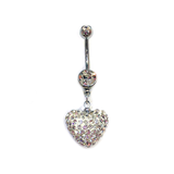 Snow Heart Belly Ring, Belly Rings - www.thestoneflower.com
