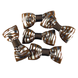 Silver & Brown Mini Bow, Hair Accessories - www.thestoneflower.com