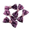 Purple Jewel Polka Dot Mini Bow, Hair Accessories - www.thestoneflower.com