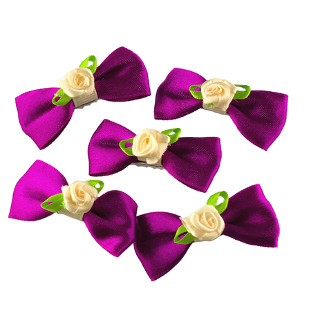 Purple Jewel Polka Dot Mini Bow