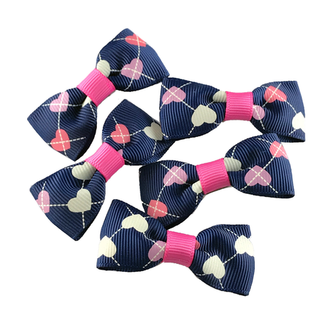 Rose Fuchsia Mini Bow
