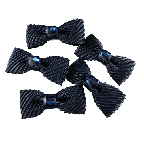 3a425011555a Navy Velvet Mini Bow, Hair Accessories - www.thestoneflower.com