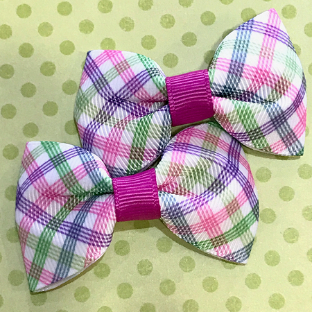 Blue Heart Mini Bow