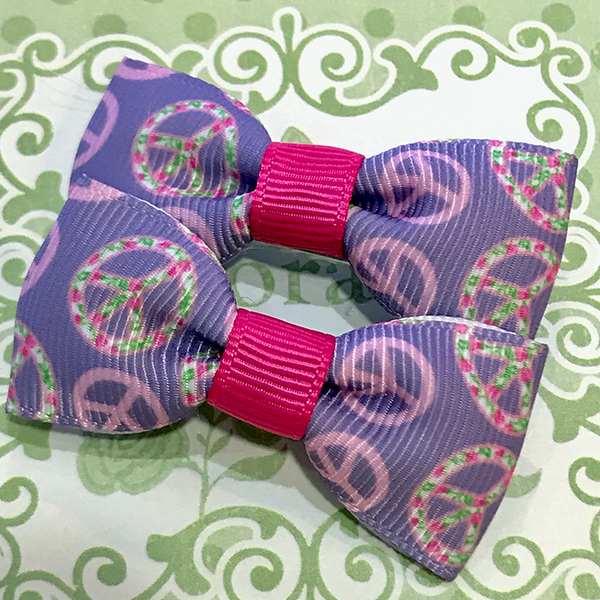 Peaceful Mini Bow, Hair Accessories - www.thestoneflower.com