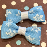 Snowflake Mini Bow, Hair Accessories - www.thestoneflower.com