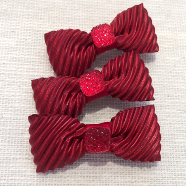 Beautiful Velvet Mini Bow, Hair Accessories - www.thestoneflower.com