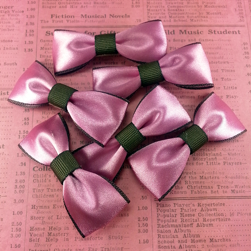 Silky Pink Mini Bow, Hair Accessories - www.thestoneflower.com