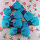 Pretty Blue Mini Bow, Hair Accessories - www.thestoneflower.com
